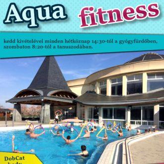 Aqua fitness kedd kivételével minden hétköznap!